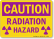 Caution Radiation Hazard Sign