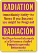 Bilingual Radiation Warning Sign
