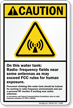 Radio Frequency ANSI Caution Sign