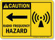 Radio Frequency Hazard Caution Sign