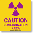 Caution Contamination Area with Graphic