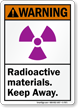 Radioactive Materials Keep Away ANSI Warning Sign