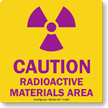 Caution Radioactive Materials Area with Graphic