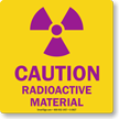 Caution Radioactive Material with Graphic