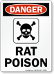 Rat Poison OSHA Danger Sign