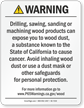 Raw Wood Product Exposure Prop 65 Warning