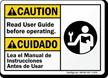 Bilingual ANSI Caution / Cuidado Sign