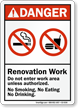 Under Construction ANSI Danger Sign