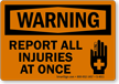 OSHA Warning Label