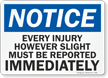 Glowing OSHA Notice Sign