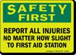 OSHA Safety First Glow Sign