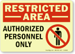 GlowSmart™ Restricted Area Sign