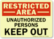 GlowSmart™ OSHA Restricted Area Sign