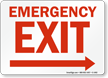 Fire and Emergency Sign