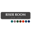 Riser Room TactileTouch Braille Sign