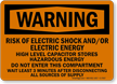 Risk Of Electric Shock And/Or Electric Energy Sign