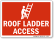 Roof Access Ladder Sign