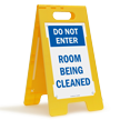 Do Not Enter Room Being Cleaned Standing Sign