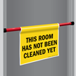 Room Not Cleaned Door Barricade Sign
