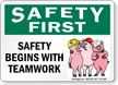 Cartoon Safety Sign