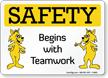 Teamwork Safety Sign