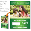 Safety Is Family Value Changeable Scoreboard Magnetic Face