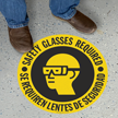Bilingual Safety Glasses Required Slipsafe™ Floor Sign