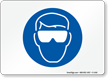 Safety Glasses Symbol Sign
