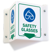 Safety Glasses PPE Projecting Sign