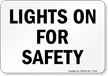 Vehicle Truck Safety Sign