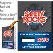 Safety Rocks, Stay On Beat Scoreboard Magnetic Face