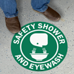 Safety Shower and Eyewash SlipSafe Floor Sign