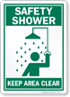 Safety Shower Keep Area Clear