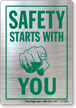 Safety Starts With You Glass Decal