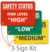 Risk Level High Low Medium Status Magnetic Kit