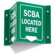 SCBA Located Here 2-Sided Projecting Sign