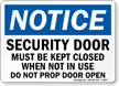 Door Security Sign