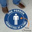 Select Number Of Persons Permitted At A Time Floor Sign