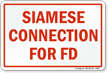 Siamese Connection For FD Sign
