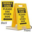 Sidewalk Closed 2 Sided Standing Floor Sign