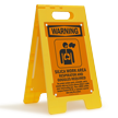 Silica Work Area Respirator Required Floor Sign