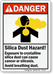Silica Dust Hazard Cause Cancer OR Silicosis Sign