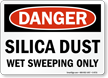 OSHA Silica Dust Danger Sign
