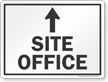 Site Office With Up Arrow Sign