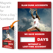 Slam Dunk Accidents, Basketball Theme Scoreboard Magnetic Face