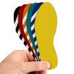 6 Inch Slip-Gard Floor Marking Footprints