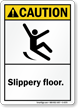 Caution (ANSI): Slippery Floor
