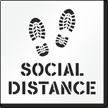 Social Distance Floor Stencil