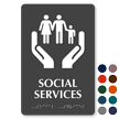 Social Services Braille Hospital Sign