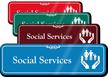 Social Services Hospital Showcase Sign